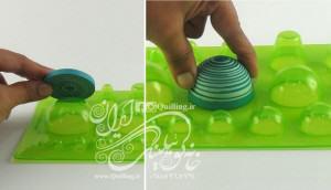 نحوه استفاده از صفحه توپک در ملیله کاغذی