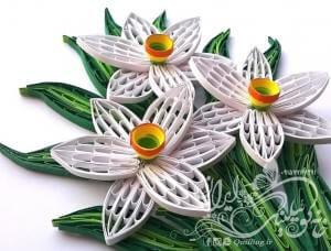 آموزش گل نرگس ملیله کاغذی