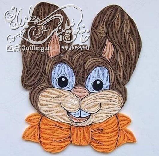 نمونه انجام شده خرگوش کوئیلینگ