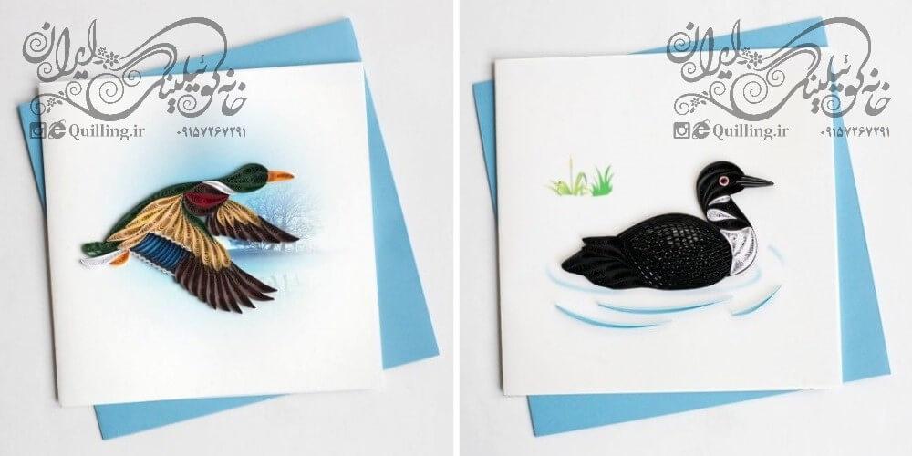 کارت پستال حرفه ای کوئیلینگ - سری پرندگان