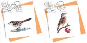 کارت پستال حرفه ای کوئیلینگ – سری پرندگان