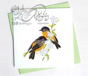 کارت پستال حرفه ای کوئیلینگ – سری پرندگان ۲