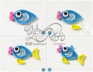 آموزش گردنبند ماهی کوئیلینگ برای کودکان