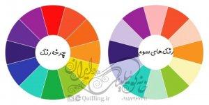 هارمونی رنگها - رنگهای مرتبه سوم