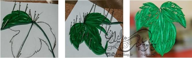 تابلوی سه تکه انگور ملیله کاغذی