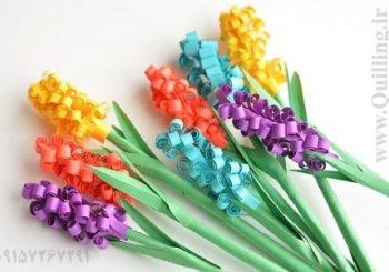 آموزش گل سنبل ملیله کاغذی