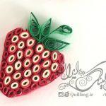 آموزش یک نمونه توت فرنگی کوئیلینگ
