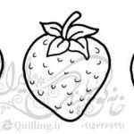 طرح خام توت فرنگی ملیله کاغذی