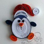 عروسک کریسمس ملیله کاغذی