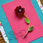 آموزش گل کوئیلینگ با گلبرگهای قلبی شکل
